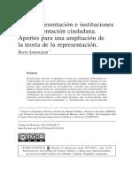ANNUNZIATA - Auto-representacion e instituciones de representación ciudadana