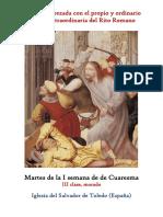 Martes de La I Semana de Cuaresma. Propio y Ordinario de la santa misa