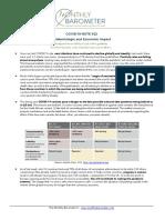 (Updated February 19, 2021) COVID-19 Epidemiologic and Economic Impact