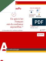 BJ21923 - OpinionWay pour le CEVIPOF-Baromètre de la confiance en politique - vague12 - Rapport international