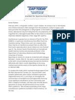 Captodayonline.com-HbA1c Platforms Studied for Lipemia Interference