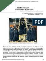 Santa Mônica - A criação do ideal da mãe cristã _ Idade Média - Prof. Dr. Ricardo da Costa