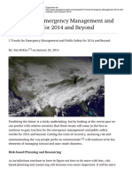 5 Trends for Emergency Management and Public Safety for 2014 and Beyond