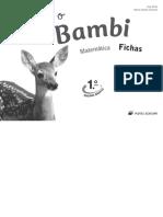Eu e o Bambi - fichas de matemática