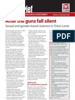 Sexual and Gender-Based Violence in Timor-Leste
