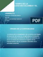 Línea de tiempo de la contabilidad en Colombia