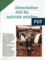 Alimantation 400 Hz aviation