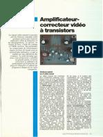 Ampli correcteur vidéo à transistors