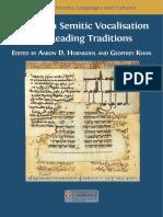 Studies in Semitic Vocalisation
