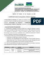 Edital UniSer - 01.2021 - Novas Turmas