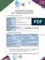 Guía de Actividades y Rúbrica de Evaluación - Tarea 5 - Aprendizajes Alcanzados en El Curso