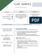 taylor harris resume 2021