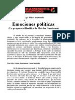 EMOCIONES POLÍTICAS NUSSBAUM