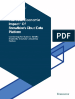 2020 Forrester Total Economic Impact Study of Snowflake