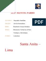 REYNALDO SANTILLÁN - 2° SECUNDARIA - LA EDUCACIÓN VIRTUAL