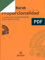 Aharon Barak - Proporcionalidad