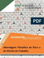 Caderno Abordagem Filosófica Da Ética e Do Direito Do Trabalho