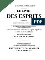 LE LIVRE DES ESPRITS - ALLAN KARDEC - CESLD