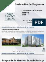03 - Gestión y Evaluación de Proyectos Unidad 1