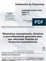 01 - Gestión y Evaluación de Proyectos 2016