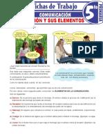 La Comunicación y Sus Elementos Para Quinto Grado de Primaria