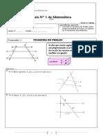 Guia N° 1 ( Teorema de Thales )PTU