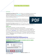 Tutorial do Kaspersky Virus Removal Tool