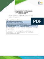 Guía de Actividades y Rúbrica de Evaluación - Unidad 1- Fase 1 - Reconocimientos Previos