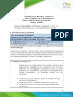Guia de actividades y rubrica de evaluación-Unidad 1-Tarea 2-Analizar problematica sobre uso inapropiado del territorio