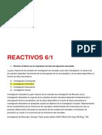 Reactivos de Mercado