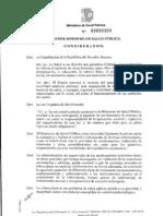 Acuerdo[ ministerial 16 julio 2010