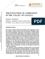 THE EVOLUTION OF COMPLEXITY IN THE VALLEY OF OAXACA