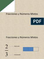 Fracciones y numeros mixtos