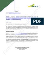Solicitud de Aclaración Transporte Petrowill 2 ME 4008798