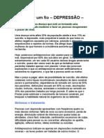 Depressão - A vida por um fio - W Rondó Medical Center - medicina preventiva