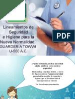LINEAMIENTOS DE SEGURIDAD E HIGIENE PARA GUARDERÍA