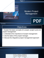 PPT Chapter 1 Modern Project Management