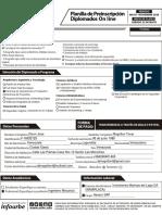 Planilla de Preinscripción Diplomados On line Periodo Mayo - Noviembre 2020 Editable