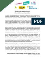 Declaración 23F - 'Por la ruptura democrática'