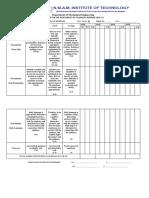 Rubrics Sheet for Tech. Seminar - 2020-21