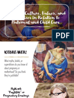 Filipino Culture in Relation to Maternal and Child Care