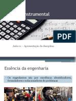 Cálculo Instrumental - Aula 01