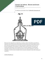 Télégraphe Dimpression de Lettres - Brevet Américain 4464 - Régulateur Hydraulique