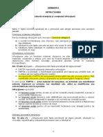 Seminar 6 PG - Infractiunea. Trasaturile esentiale si continutul infractiunii