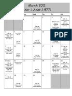 Ut 32011 Calendar
