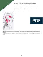 Карта точек боли в теле и точек напряжения мышц