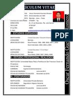 Curriculum vitae - Ing. OSCAR FERNANDO GUERRERO ROMERO