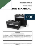 Fender Bassbreaker 15 Service Manual a