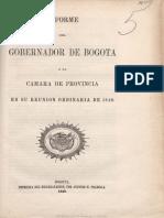 1849-Informa Del Gobernador de Bogotá 1849