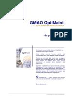 GMAO OptiMaint - Manuel de prise en main